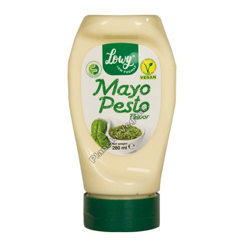 Mayonesa Vegana sabor Pesto, 280ml. Lowy