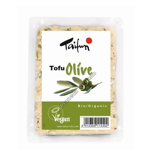Tofu con Olivas, 200g. Taifun