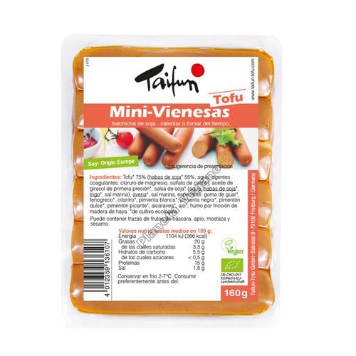 Salchichas Mini Vienesas de Tofu, 160g. Taifun