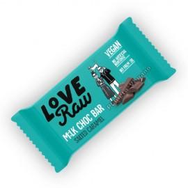 Barrita de Chocolate con Caramelo Salado, 30 g. Love Raw