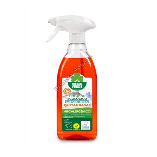 Limpiador Concentrado Quitagrasas, 750 ml. Trébol Verde