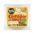 Queso Vegano Sabor Cheddar en lonchas, 200g Grin Grin