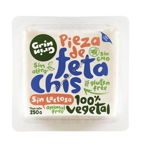 Queso Vegano Estilo Feta, 250g Grin Grin