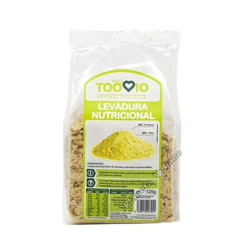 Levadura Nutricional en Copos con Vitamina B12, 125g. Toobio