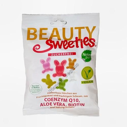 Gomitas vegetales con forma de Conejitos sabor Frutas, 125g, Beauty Sweeties