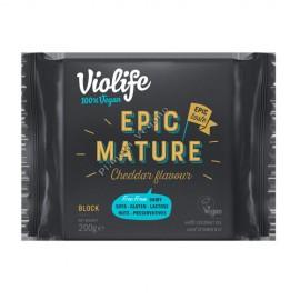 Queso Vegano Epic Mature sabor Cheddar, 200g. Violife