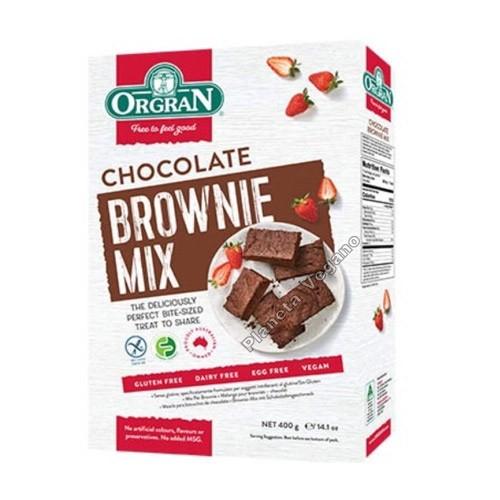 Mezcla para Brownie sabor Chocolate, 400g. Orgran
