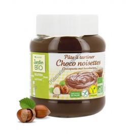 Crema de Chocolate con Avellanas, 350g. de Jardin Bio
