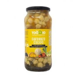 Garbanzos Cocidos con Verduras y Alga Kombu, 540g. Toobio