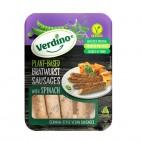 Salchichas Veganas estilo Bratwurst con Espinacas, 200g. Verdino