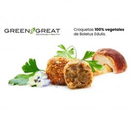 Croquetas Veganas de Boletus, 500g. Green & Great