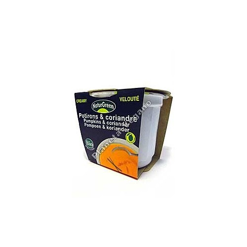 Crema de Calabaza al cilantro en tarrina de 310 g - Naturgreen