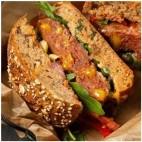 Burger rellena de Queso Fundido Vegano , 220g. Verdino