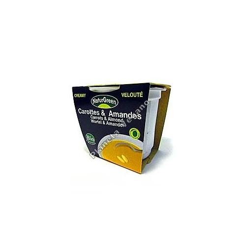 Crema de Zanahoria con almendras en tarrina de 310 g - Naturgreen