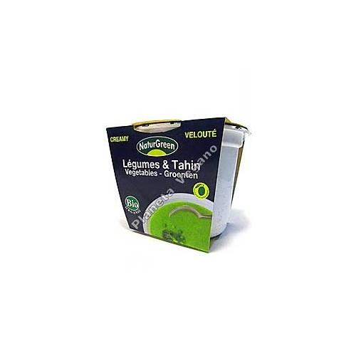 Crema Verduras con Tahín en tarrina de 310 g - Naturgreen