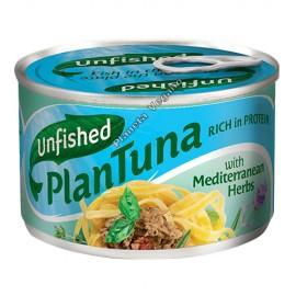 Atún Vegano con hierbas mediterráneas, 150 g Unfished Plantuna