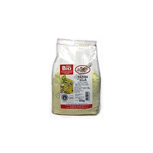 Harina de soja Bio, 500 g. El Granero