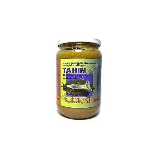 Tahin, crema de sésamo con sal, 330g. Monki
