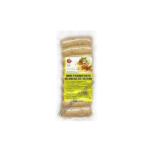Salchichas Mini Franckfurts Blancas de Seitan, 200g. Wheaty