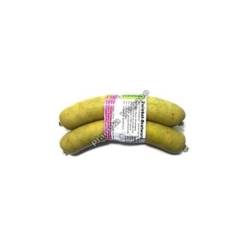 Salchichas tipo Alemana con cebolla, 2x115g. Vegusto