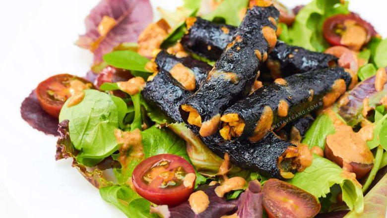 Rollitos de algas con tofu