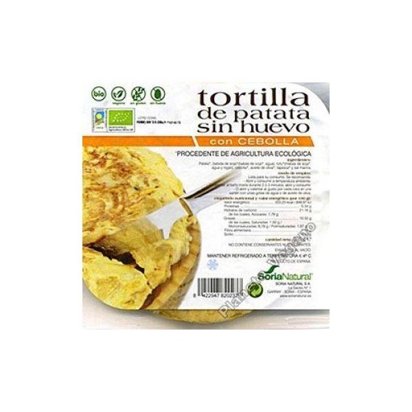 Tortilla de Patatas Vegana con Cebolla, 250g Soria Natural