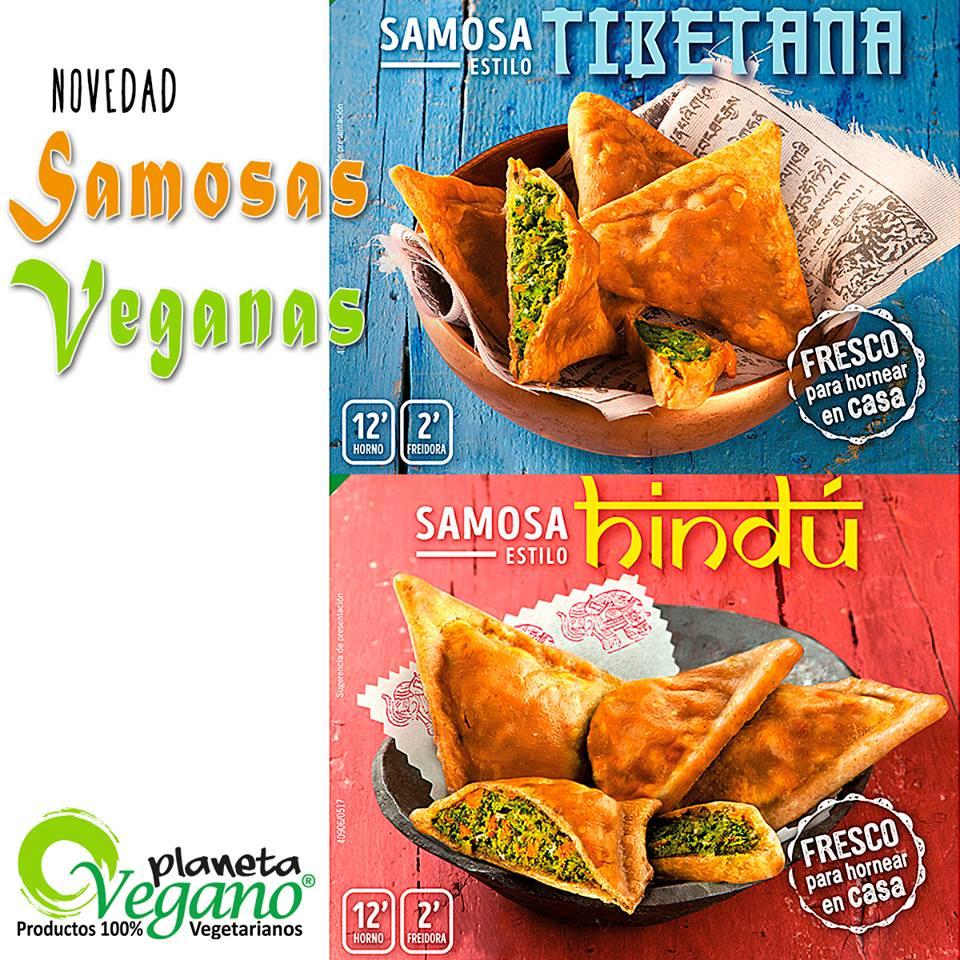 Deliciosas samosas con sabores asiáticos y de agricultura ecológica